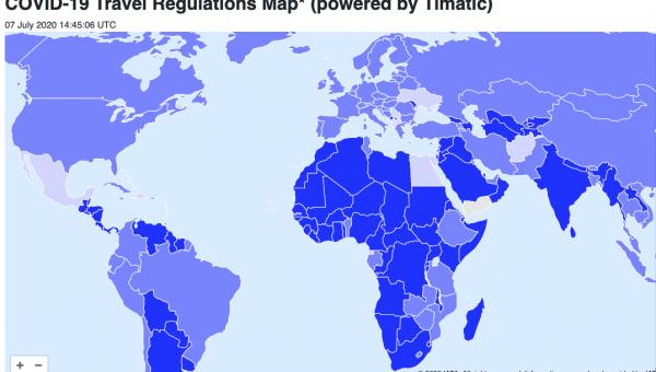 mapa restricciones viaje